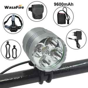 Cycling-Light Battery-Pack Warning-Lamp Waterproof 7000LM LED Riding with 5--T6 3-Modes