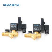 SR-B-15 Timing Of Drainage Solenoid Valve Brass Valve Automatic Drain Device DC24V AC220V Sanmin the new standard festo valve filter with automatic drainage tube lfr 3 4 midi a