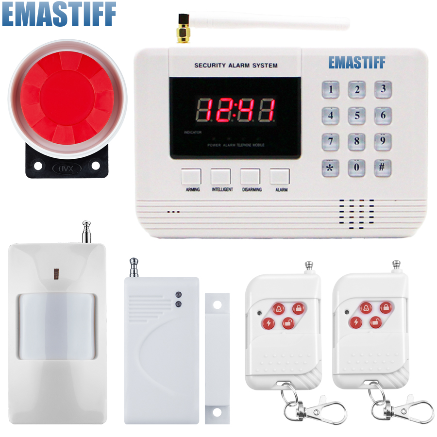Wireless/wired Phone SIM GSM Home Burglar Security GSM Alarm System English Voice Prompt Alarm Sensor kit g63 wireless wired phone sim gsm home burglar security gsm alarm system english russian spansih voice prompt alarm sensor kit