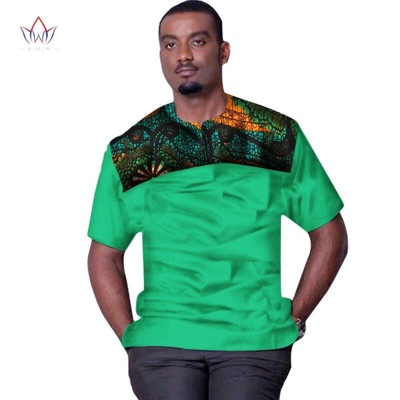 Été africain imprimé Dashiki hauts de pour t-shirts drôles t-shirts 6XL à manches courtes hommes afrique vêtements de sport grande taille WYN321