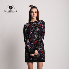 Runway Winter Dress 2016 High Quality Brand Sweater Dress For Women Luxury Brand Designer Warm Dress