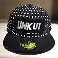Hip Hop de Moda de verano niña UNKUT Snapback patrón de Punto bordado de la Letra de los hombres Gorra de Béisbol ajustable 2 color UC5540