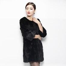 2016 Genuine Real Piece Mink Fur Coat Jacket Autumn Winter Women Fur Warm Outerwear Coats Garment 3XL VK3126