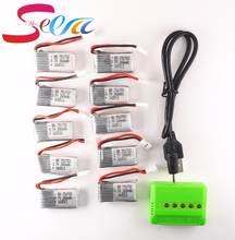 10pcs 3 7V 260mAh Lipo Battery with X5 5in1 green Charger for Eachine H8 JJRC H8