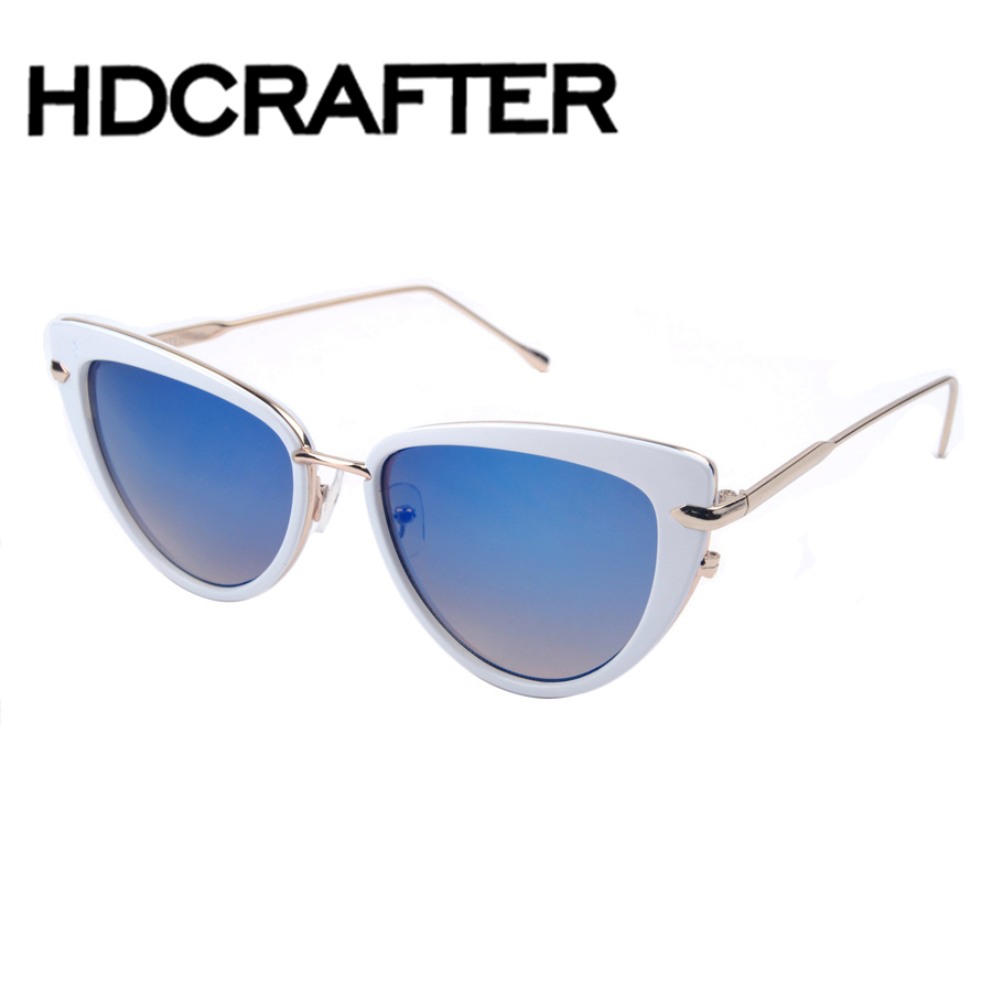 font b Fashion b font Cat Eye Sunglasses Women Brand Designer Vintage Sun Glasses Female