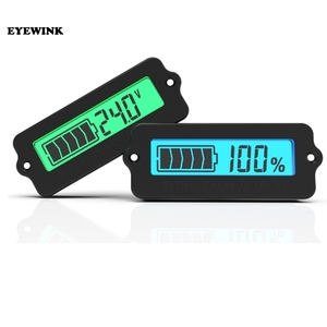 12V LY6W Lead Acid Battery Capacity Indicator Blue LCD Digit Display Meter Lithium Battery Power Level Detector Tester(China)