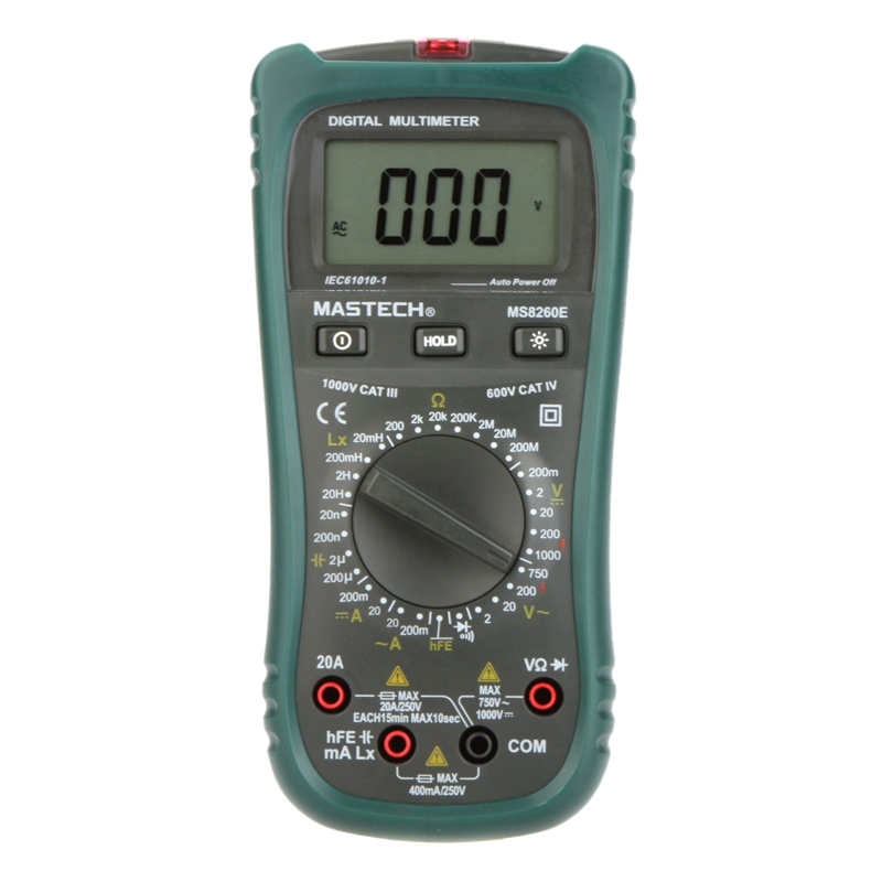 MASTECH MS8260E Digital Multimeter LCR Meter AC DC Voltage Current Capacitance Inductance Tester Dector