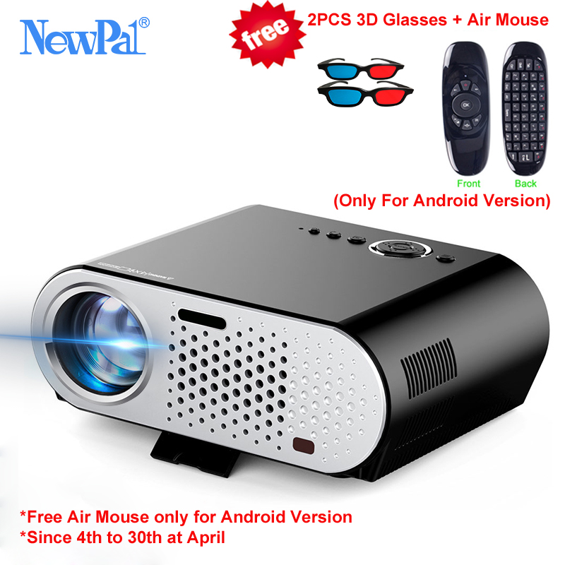 Newpal Projector GP90UP 3200 Lumens Projectors 1280*768 Android Bluetooth WIFI Mini Beamer Support Airplay Miracast AC3 LED TV vivibright gp90 lcd projector 3200 lumens android 4 44 os