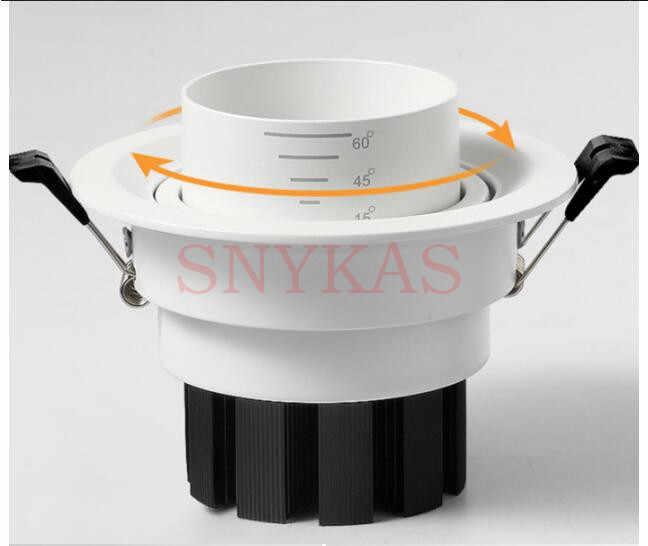 85-265VAC Вход 5 Вт-35 Вт светодиодный встроенный, потолочный светильник, масштабирование 15 до 60 градусов угол луча вниз свет, зум встроенный COB точечная лампа
