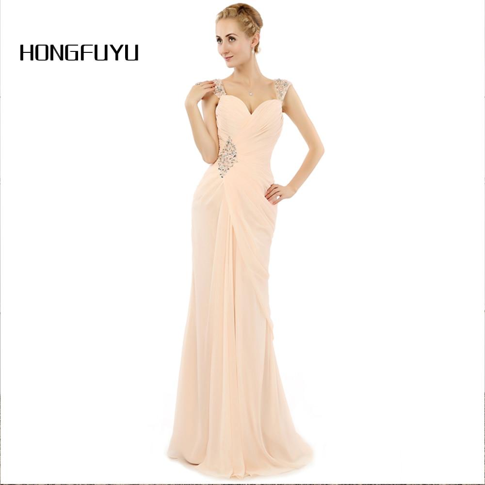 Vestido De Festa Beauty Chiffon Sweetheart Long Evening Dresses 2018 ...