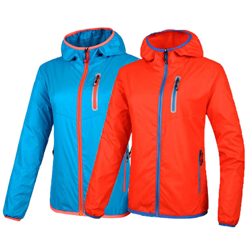 Men Women Quick Dry Thin Hiking Waterproof Jacket Outdoor Sport