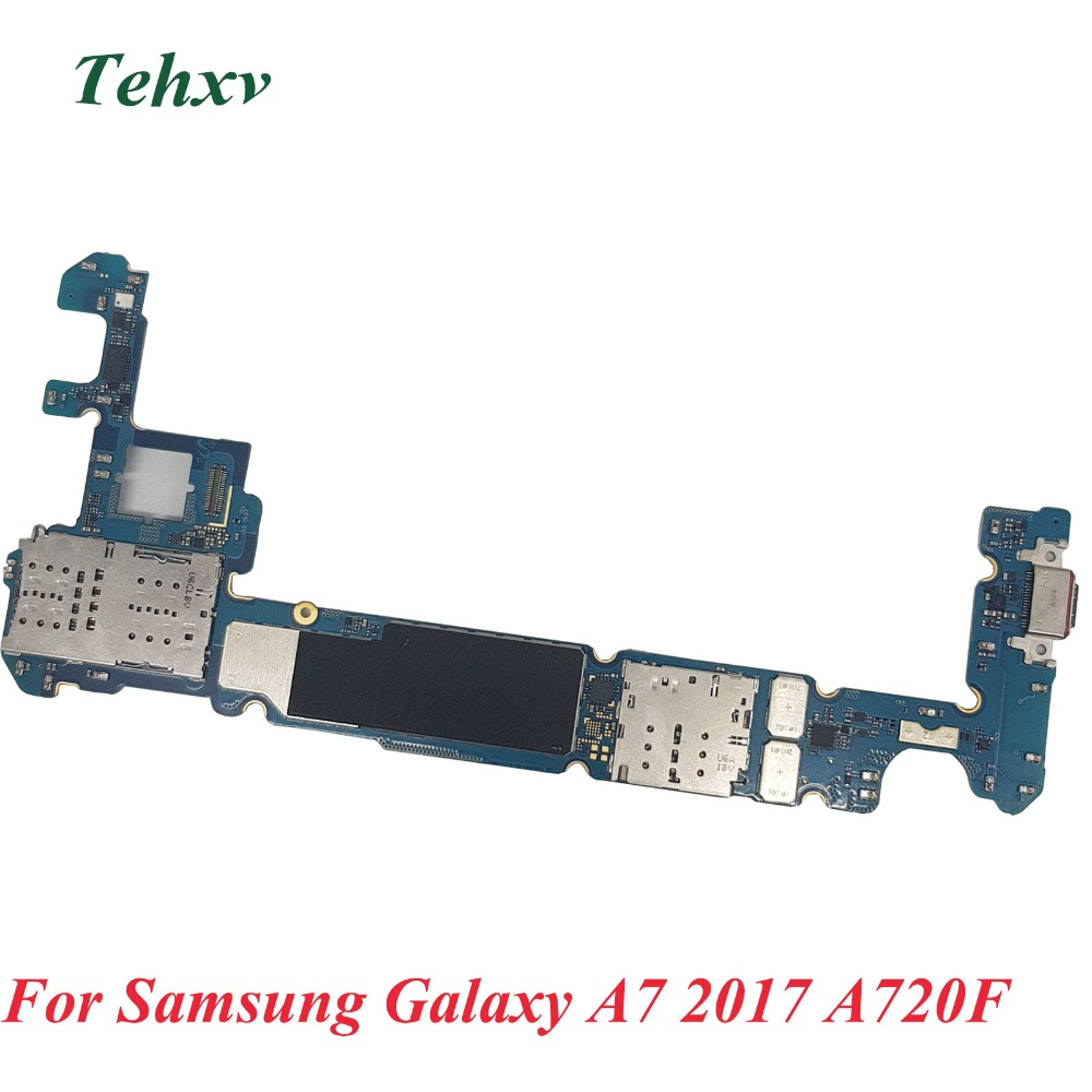 Tehxv Original Unlocked Main Motherboard with full chips tested Replacement For Samsung Galaxy A7 2017 A720F