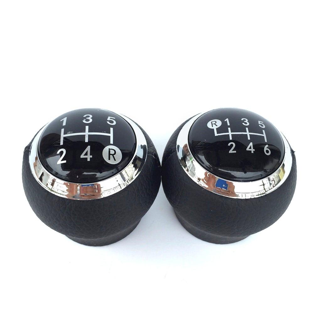 6 Speed Shift Knob Manual Transmission Round Cufflink Set