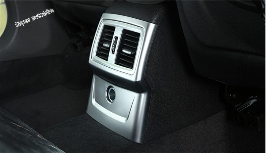 Lapetus Rear Seat Armrest Box Air Conditioning AC Vent Outlet Panel Cover Trim Fit For <font><b>BMW</b></font> <font><b>X1</b></font> F48 2016 2017 2018 <font><b>2019</b></font> 2020 / ABS image