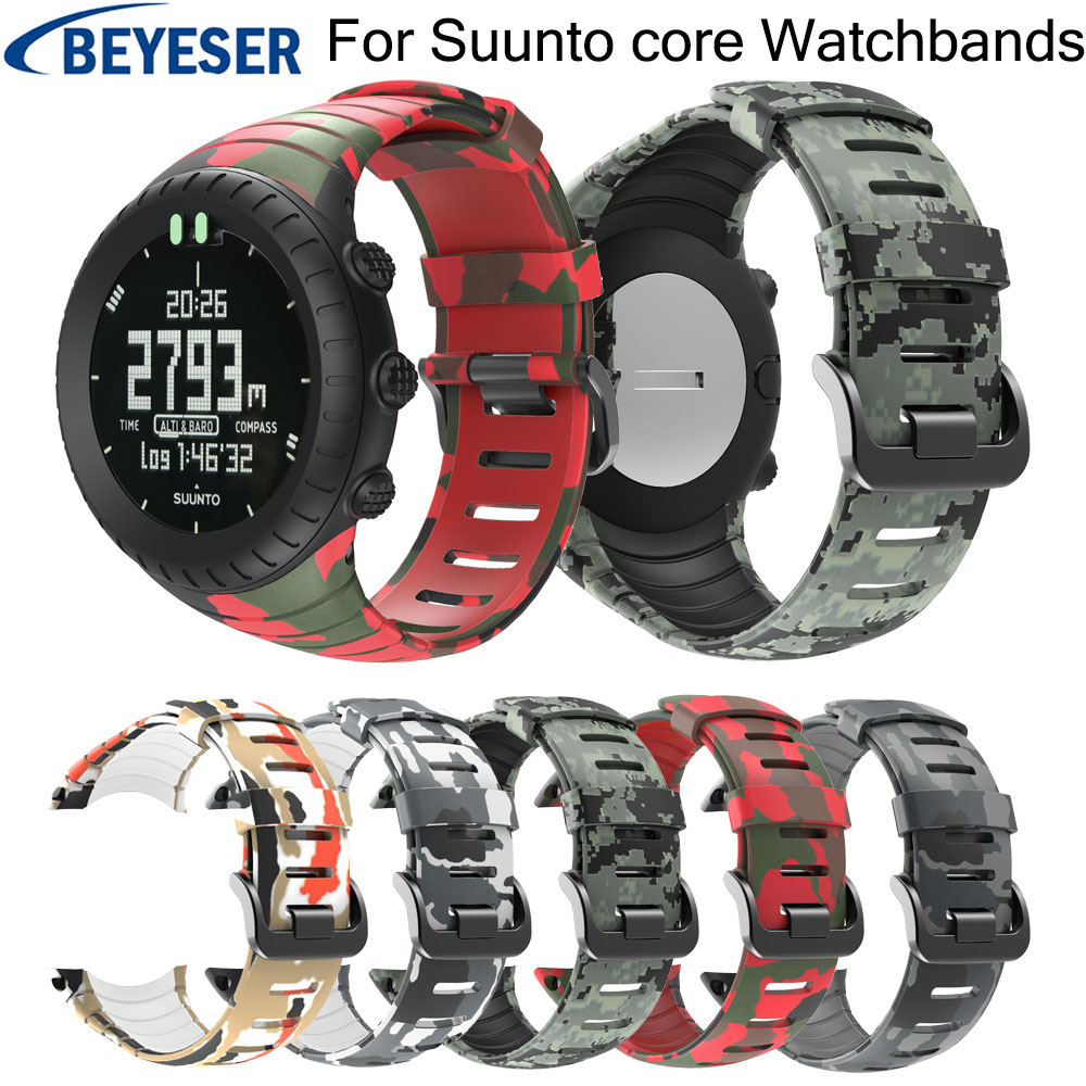 Wrist Band For Sunnto Core Silicone Replacement Adjustment Sport Personality Watchstrap For Suunto Core Classic Wristband Strap