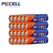 20PCS PKCELL AA Battery 1.5V LR6 AA  Alkaline Battery 2A E91 AM3 Single Use  Battery Batteries Bateria for Electronic thermomete