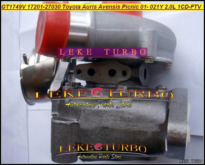 Free Ship GT1749V 17201-27030 721164-0003 721164 17201 27030 Turbo For TOYOTA Auris Picnic Previa RAV4 D4D 01- 1CD-FTV 021Y 2.0L