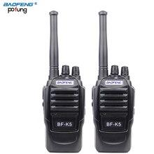 2 ШТ. baofeng BF-K5 Pofung портативный двухстороннее радио Профессиональные FM трансивер дальний беспроводной Walkie Talkie радио сканер