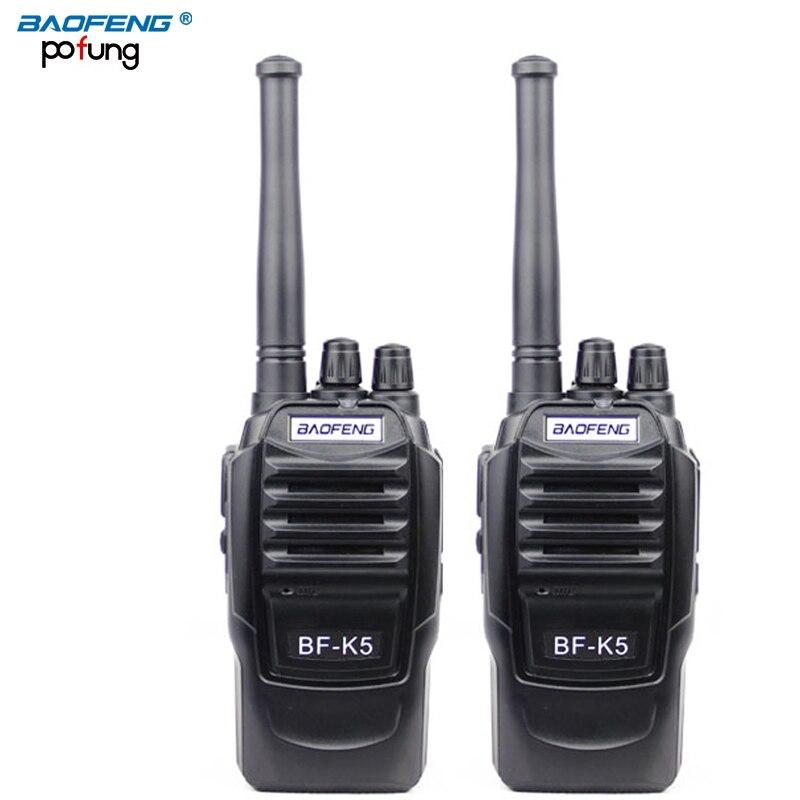 2PCS baofeng BF-K5 Pofung portable two way radio Professional FM transceiver long range wireless Walkie Talkie radio scanner