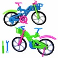 3D DIY Puzzle Assembly Simulation Bike Children Intelligence Development Toy Creative Bicycle Model Puzzle Random Color