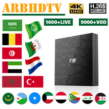 IPTV French Full HD T9 with 1 month IP TV Franch Arabic SUbscription 4K Box Android France Turkey Belgium