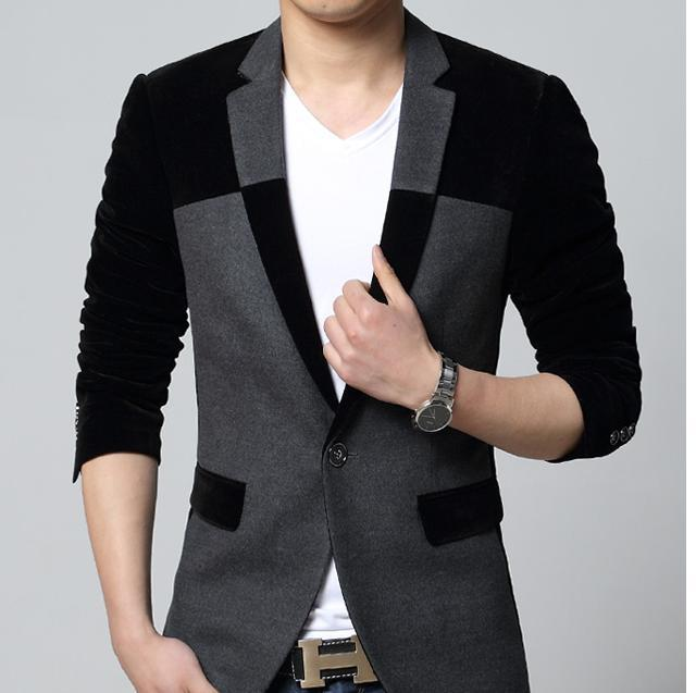 Free Shipping 40New Pattern Mens Blazersmen Cotton Suitsslim Fit Cool Mens Blazer Pattern