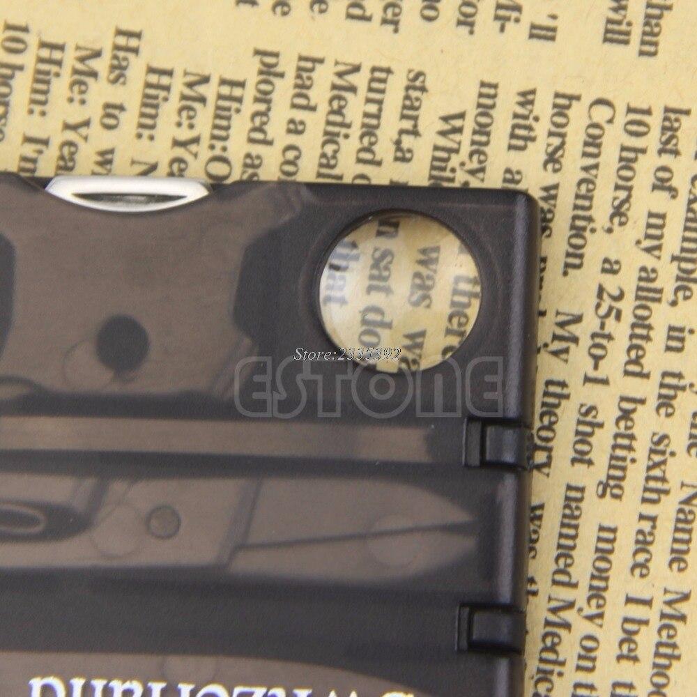 Мини Открытый Инструменты удобный Многофункциональный выживания кемпинг инструмент карты светодиодные лупы