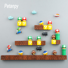 3D Decoration Stereoscopic Super Mario Bros Fridge Magnets  Message Sticker Adult Girl Boy Children Toy Birthday Gift Souvenir