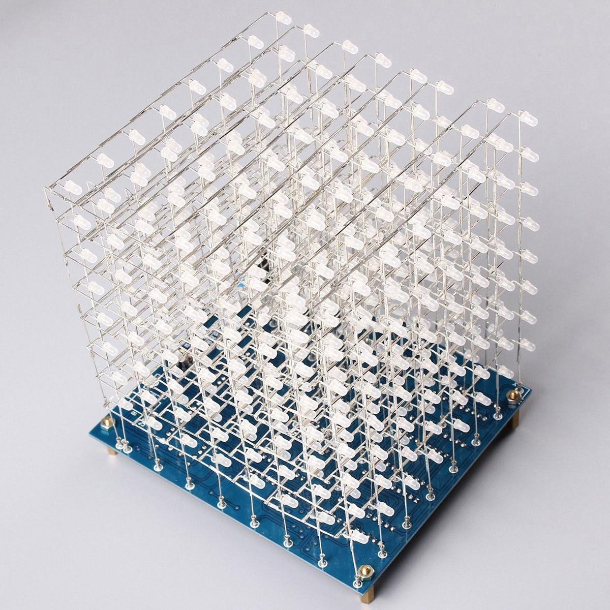 ARILUX 8x8x8 512 LED azul LED Light Cube Kit 3D LED DIY Kit electrónico Suite para arduino electrónica inteligente cubo Led Kit DIY
