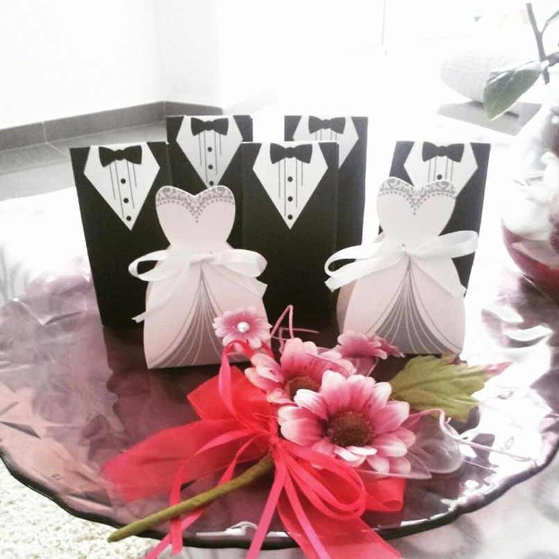 Новые подарочные коробки и сумки коробка конфет коробки для свадебных подарков смокинг жениха платье европейское платье свадебная коробка сахарный чехол свадебное украшение