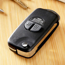Car Replacement Folding Flip Remote Key Case Shell For SUZUKI SX4 Swift 2 Button With Button Pad Auto Key Cover Uncut Blade car styling 3 button folding flip car key case for kia rio remote key fob cover replacement with uncut blade