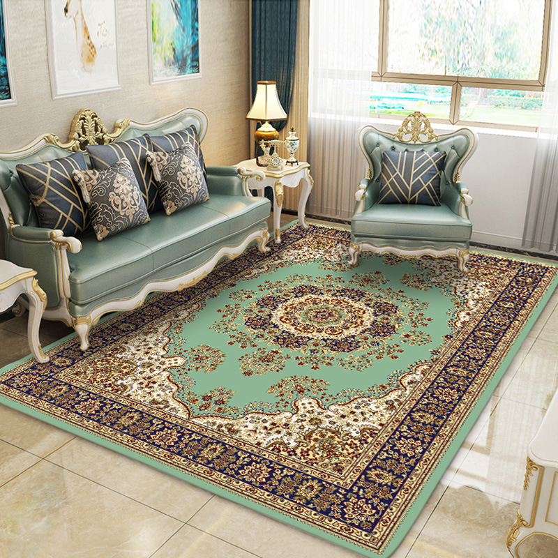Usine en gros technologie de Sublimation tapis persan salon café tapis chambre mur à mur lit tapis de sol