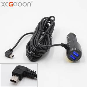 XCGaoon 3.5 meter input DC 8 V-36 V 5 V 3.5A Curved mini USB Car Charger for Car