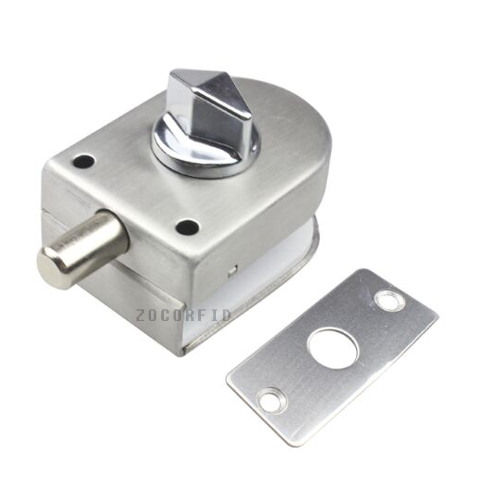 10-12mm Thick Frameless Glass Door Bolt Latch Latches With Thumb Turning Thumbturn Boring Free Latch To Glass Panel