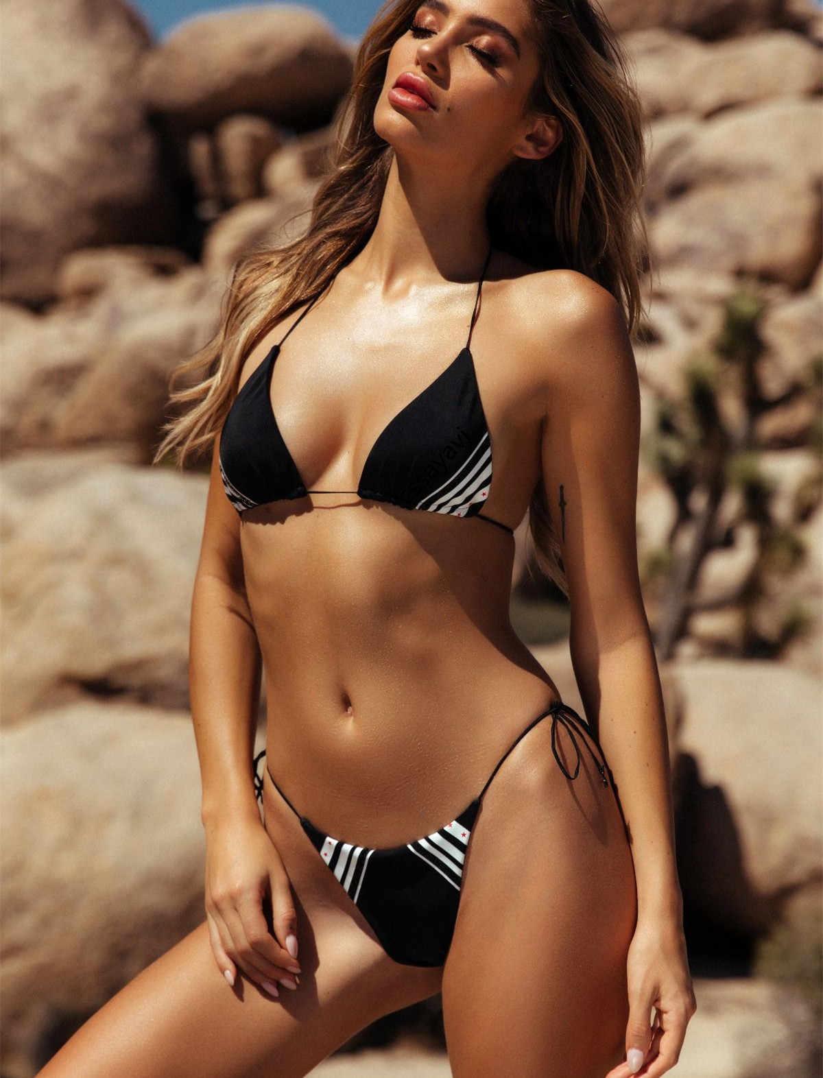 7724fe2f77a84a ... Bikinis 2019 Woman Thong Swimsuit Push Up High Leg Bandage Swimwear  Women Micro Bathing Suit Modis ...