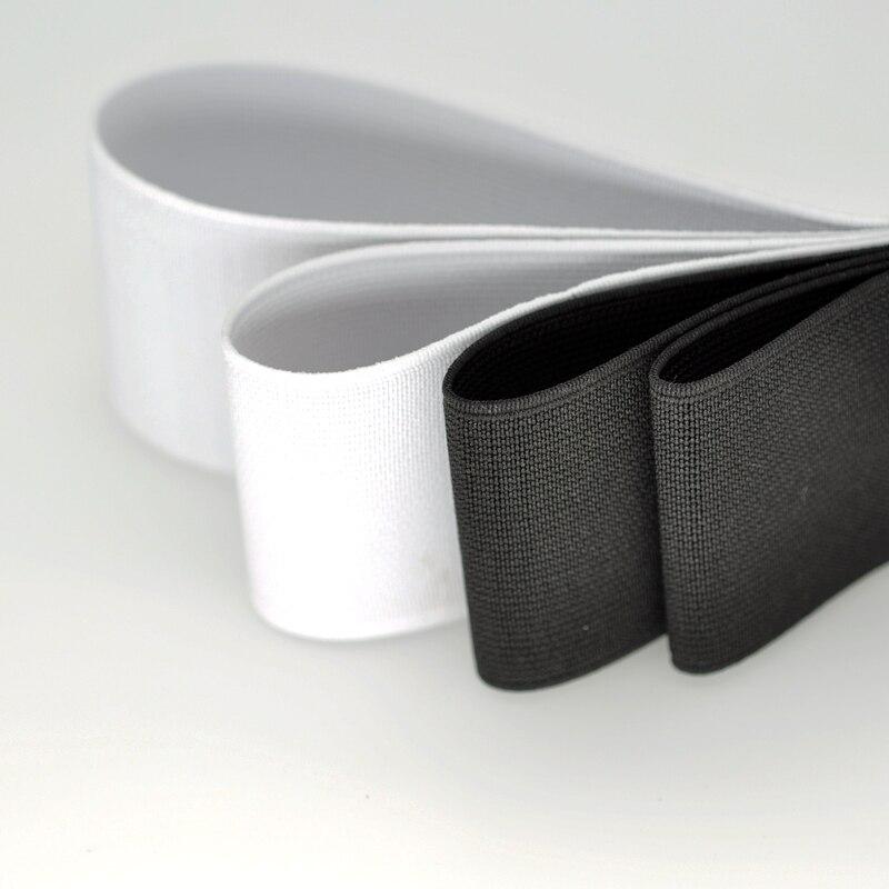 2 jardas/lote elástico/faixa de borracha para calças saia cinto bagscostura vestuário acessórios de vestuário preto branco