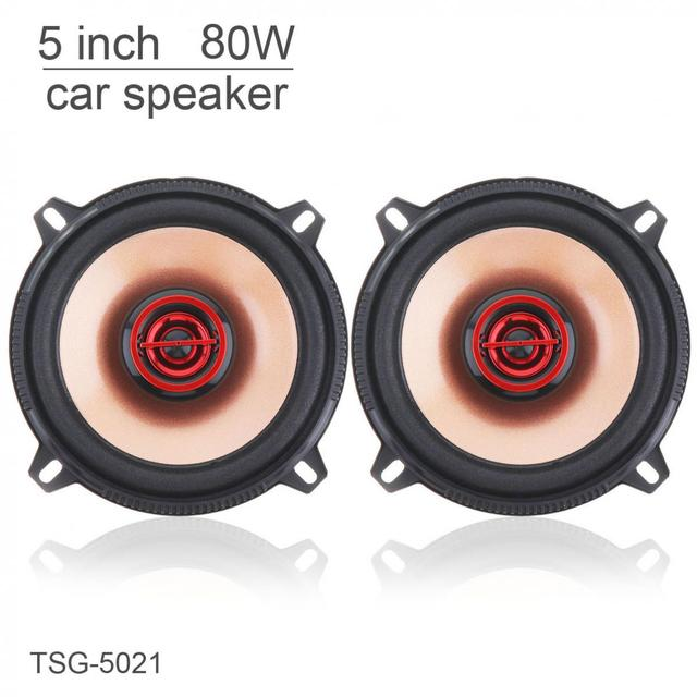TSG-5021 2pcs 5 Inch 80W Coaxial Full Range Frequency Car Audio Stereo Speaker Automobile Loudspeaker for Cars