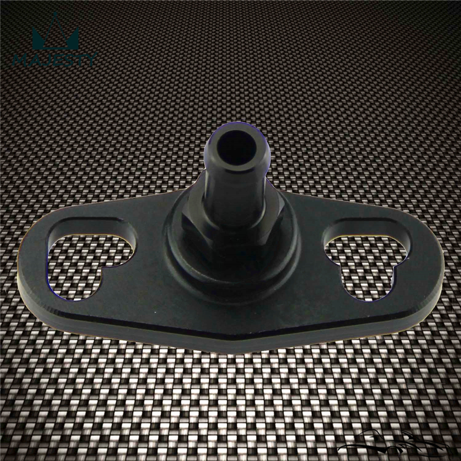 2PCS Black Fuel Rail Adapter With 6mm Tail For Mitsubishi Evo 1 2 3 Eclipse Dsm