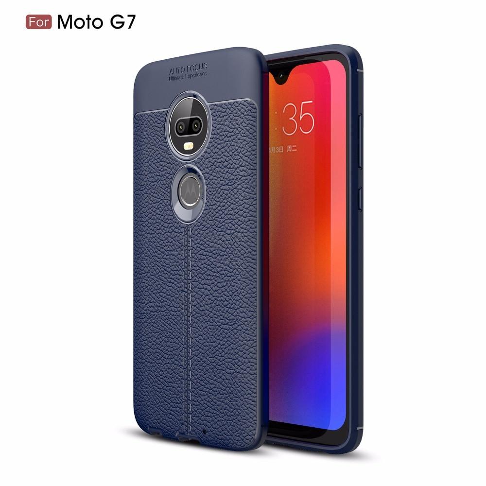 20pcs/lot Litchi Striae TPU Skin Cover Case For Motorola