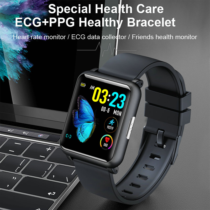Permalink to ECG+PPG Smart Watch IP67 Waterproof Smart Band Blood Pressure Fitness Bracelet Smartwatch H9 Smart Watch Men Women Bracelet.
