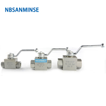 NBSANMINSE Hydraulic High Pressure Ball Valve 31.5Mpa  KHB G / NPT 3/4 1 1-1/4 1-1/2 Manual Industry