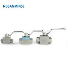NBSANMINSE Hydraulic High Pressure Ball Valve 31.5Mpa  KHB  G / NPT 3/4 1 1-1/4 1-1/2 Manual Valve Industry Valve цена