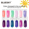6pcs/ lot 100% Genuine  Bluesky New Chameleon Summer Light Change UV Gel Nail Polish Base Coat And Top Coat Nail Art Gel Polish