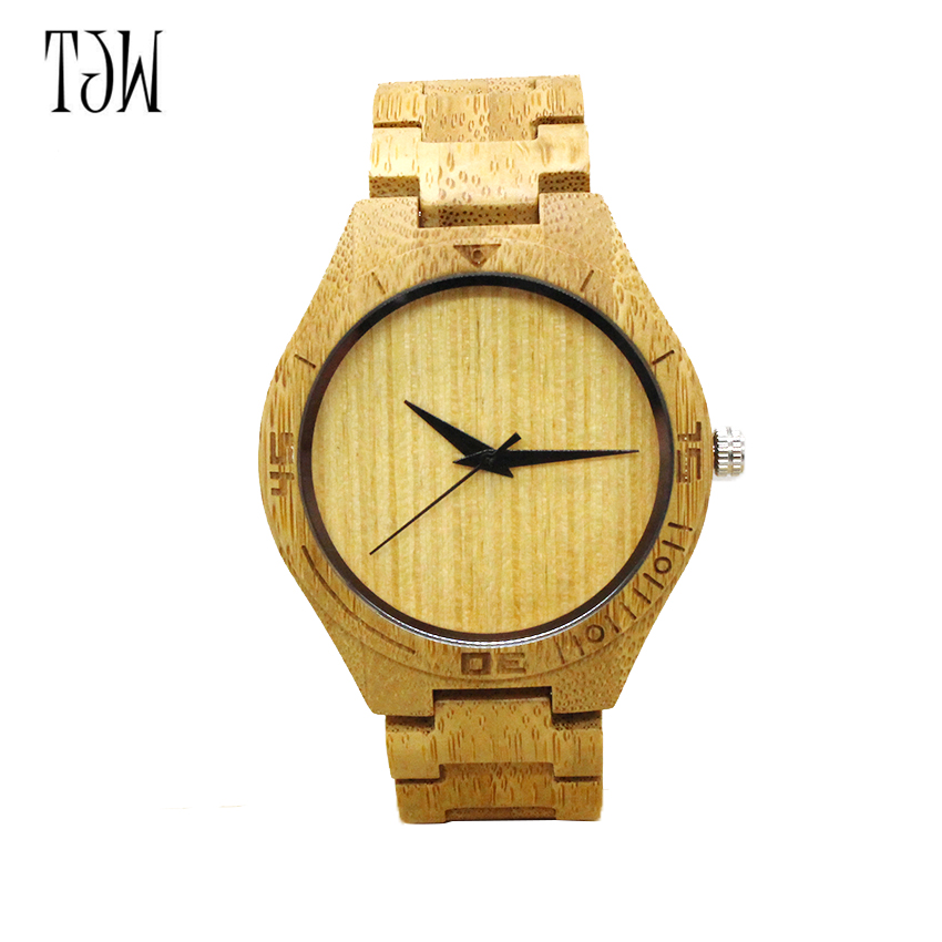 2017 Men's Bamboo Wooden Wristwatches With Genuine Cowhide Leather Band Luxury Wood Watches for Men as Gifts Itemwholesale 20pcs fashion new antique genuine cowhide leather band lovers luxury watches zebra wood bamboo wristwatch for women as best gifts