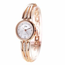 New Fashion 2016 Luxury Rhinestone Watches Women Stainless Steel Quartz Watch For Ladies Dress Watch Gold Clock relogios
