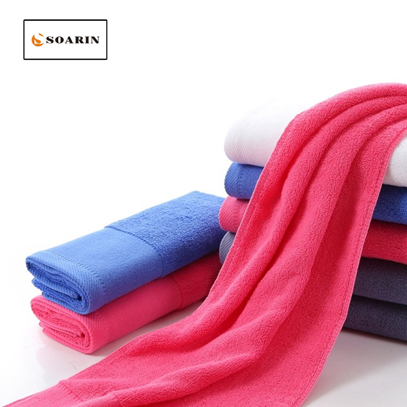 SOARIN Cotton Sports Towels Gym Towel Absorvente Drap De Plage Yoga Towel Travel Towel Fitness Wipe Sweat Run Lengthened Toalla