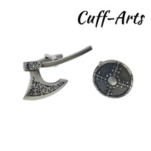 Cufflinks for Men Viking Axe and Shield Mens Cuff Jewelery Gifts Vintage by Cuffarts C10299