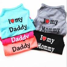 Summer Pet Dog Mesh Vest Puppy baby dog Cats Parenting Breathable shirt Clothing Love Mommy Daddy Dog Vest недорго, оригинальная цена
