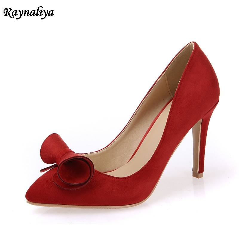 Hot Sale New Pointed Toe 9CM Thin High Heels Women Genuine Sheepskin Leather Lady Sexy Pumps Shoes XZL-A0010 free shipping hot sale suede leather women pumps 2018 female sexy pointed toe thin high heels shoes size 35 42 handmade footwear