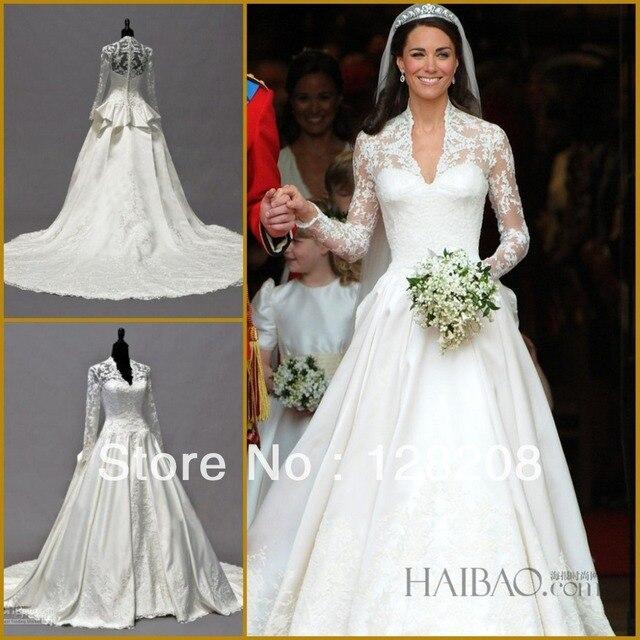 Online shop real sample kate wedding dresses long sleeve lace real sample kate wedding dresses long sleeve lace peplum bridal gowns junglespirit Choice Image